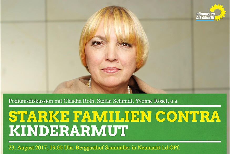Starke Familien contra Kinderarmut - Podiumsdiskussion mit Claudia Roth